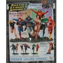 POSTER JUSTICE LEAGUE OF AMERICA STATUES