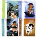 4 INDEX CARDS NADIA LE SECRET DE L'EAU BLEUE 1989